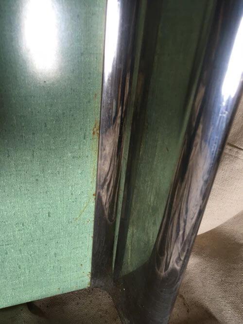 vintage linen laminate green