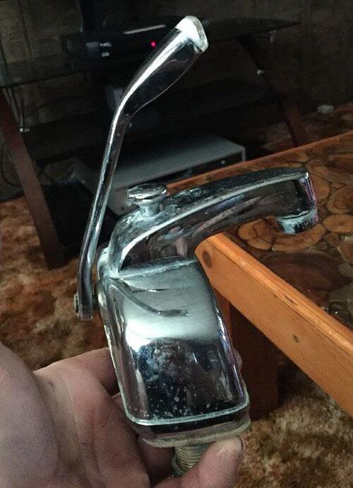 vintage single lever bathroom faucet