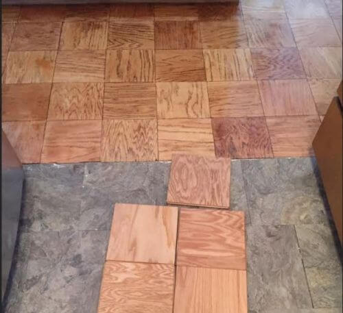 Unit block wood flooring 9 oak tongue in groove floor for Wood floor knocking block
