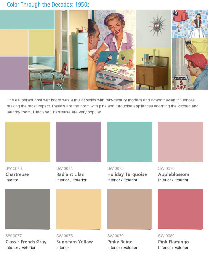 retro paint colors