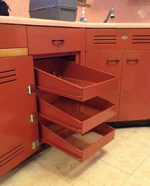 vintage St. Charles steel kitchen cabinets