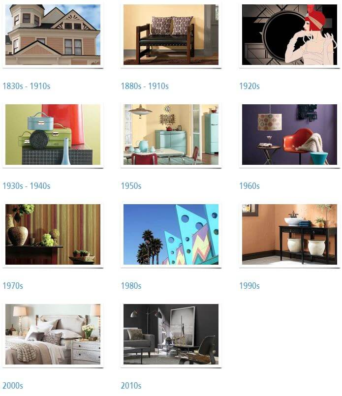 history of paint colors