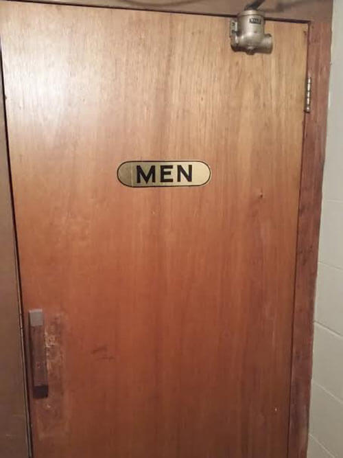 vintage bathroom door
