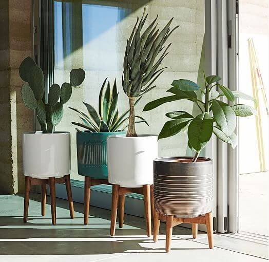 Colorful Midcentury Modern Style Planters From West Elm