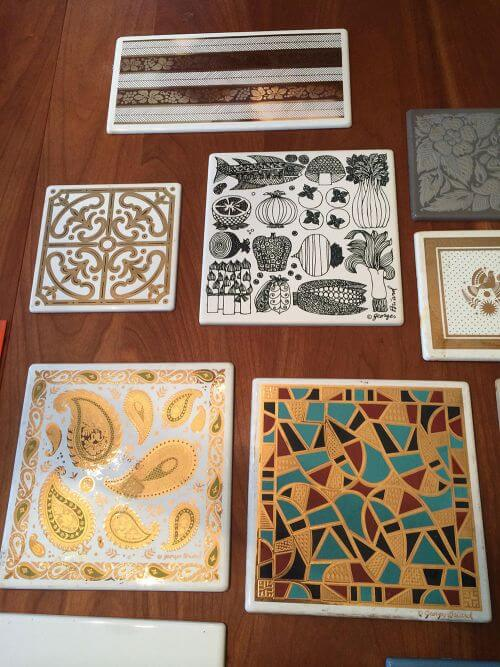 vintage decorative tiles