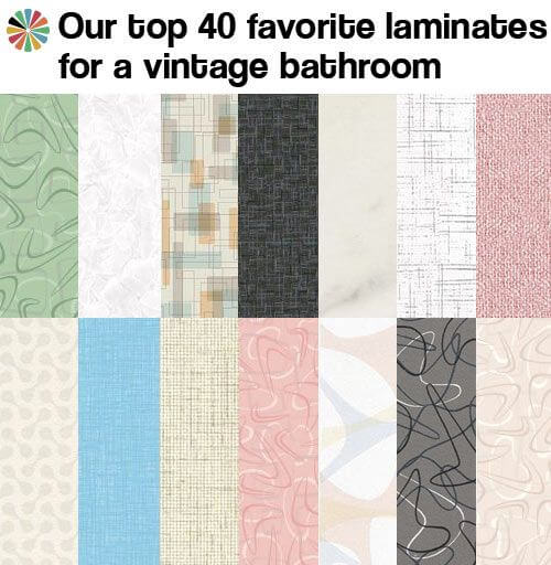 40 Favorite Laminates For A Midcentury Bathroom Retro