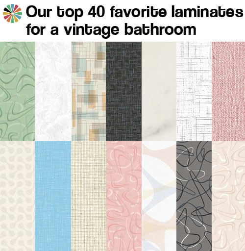Superieur When It Comes To Choosing Laminate Countertop For Vintage Or New  Midcentury Style Bathrooms, We Tend To Like Multi Directional, Or At Least  Bi Directional, ...