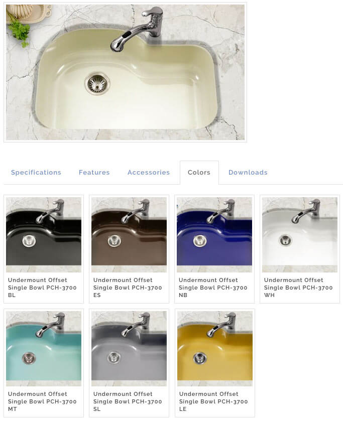 Porcelain enamel kitchen sinks in 3 styles, 8 colors - including ...