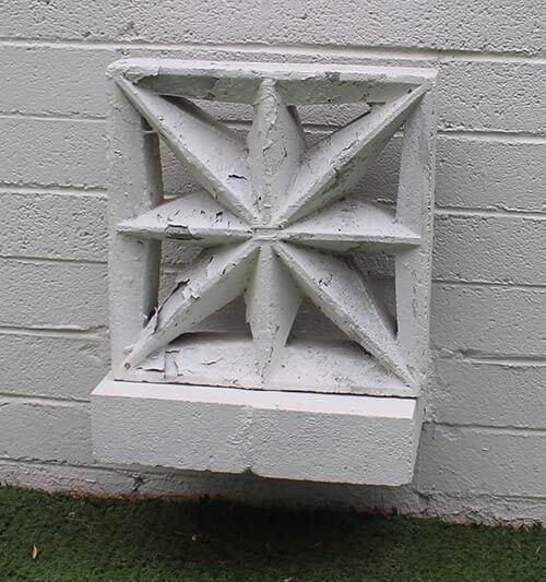 breeze block used as art