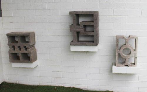 decorative retro concrete block