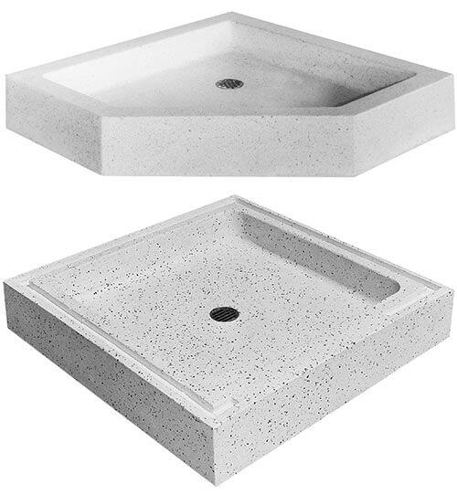 9 shower bases in 4 different materials that could be great for ... - Terrazzo Shower Base