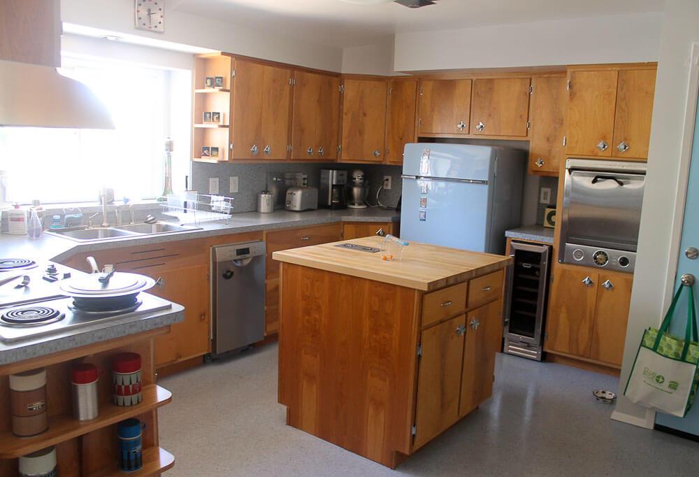 Birch Cabinets Transform Heidi Scott S 1950s Kitchen