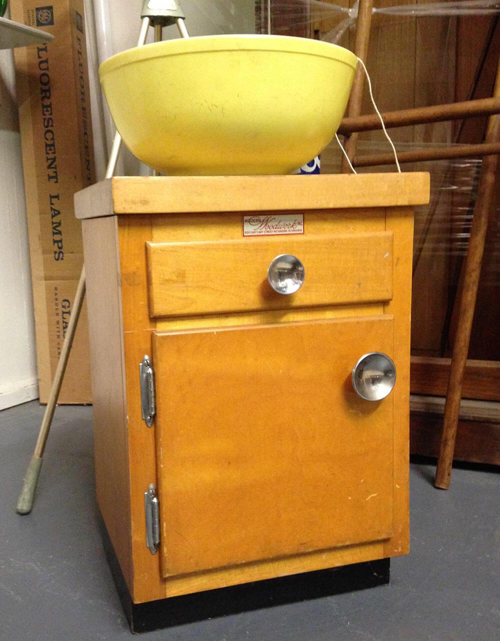 the most adorable vintage kitchen cabinet we ve ever seen retro salesman sample kitchen cabinet vintage