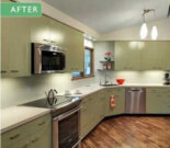 One ingenious couple + two sets of vintage St. Charles kitchen cabinets = a gorgeous midcentury modern kitchen remodel