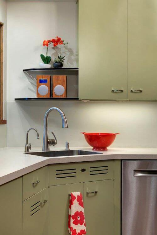 midcentury modern kitchen