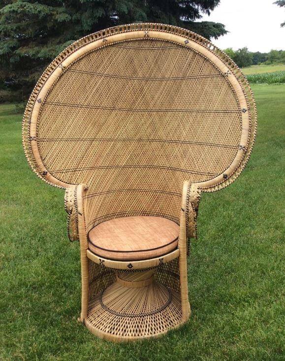 Peacock Chair Fan Back