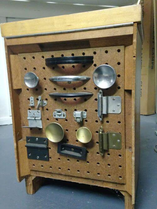 salesman sample kitchen cabinet vintage