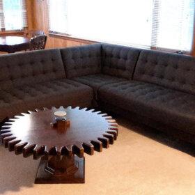 mid century modern sofa from art van