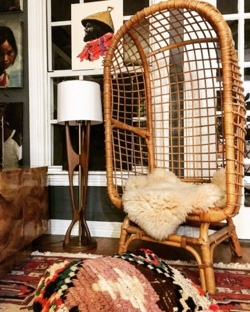 egg chair rattan