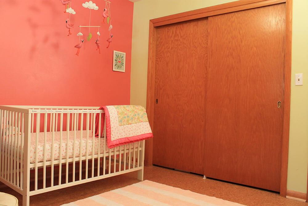 A Retro Modern Pink Flamingo Themed Nursery For Baby