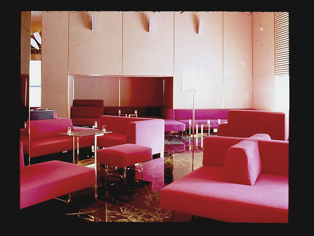 HOT PINK OMNIBUS CONFIGURATION AT THE STANDARD HOTEL, 2002 ALL RIGHTS RESERVED