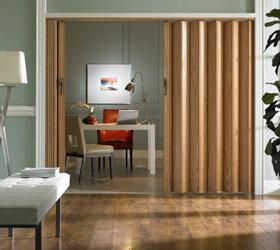 accordion wood door