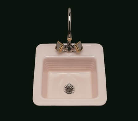 Fancy Small bathroom sinks from Bates and Bates in colors Retro Renovation