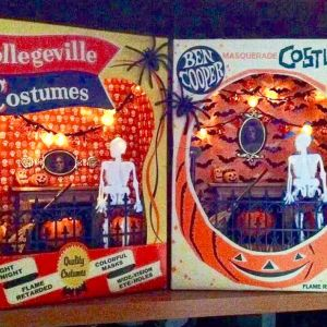 Retro Halloween Craft DIY: Make Shadow Box Dioramas From Old Costume Boxes  And Weebits