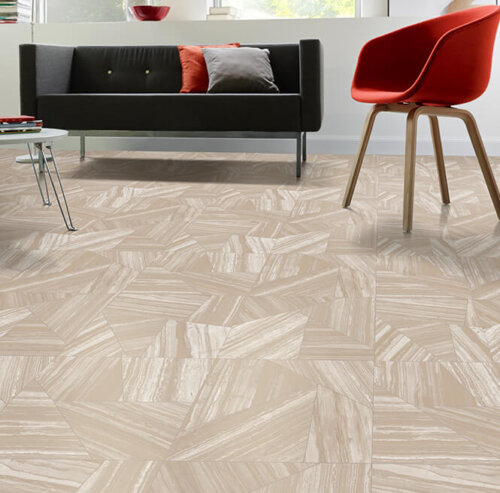 Streaky Jaspe Style Vinyl Sheet Flooring Could Be Great
