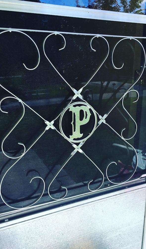 initial for vintage screen door