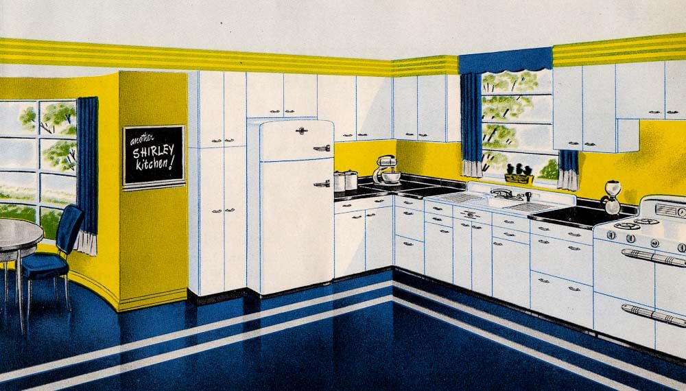 Shirley All-Steel Kitchens of Indianapolis, Indiana - Retro Renovation