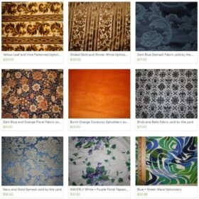 vintage upholstery fabric for sale
