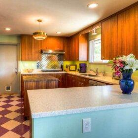mid century kitchen design