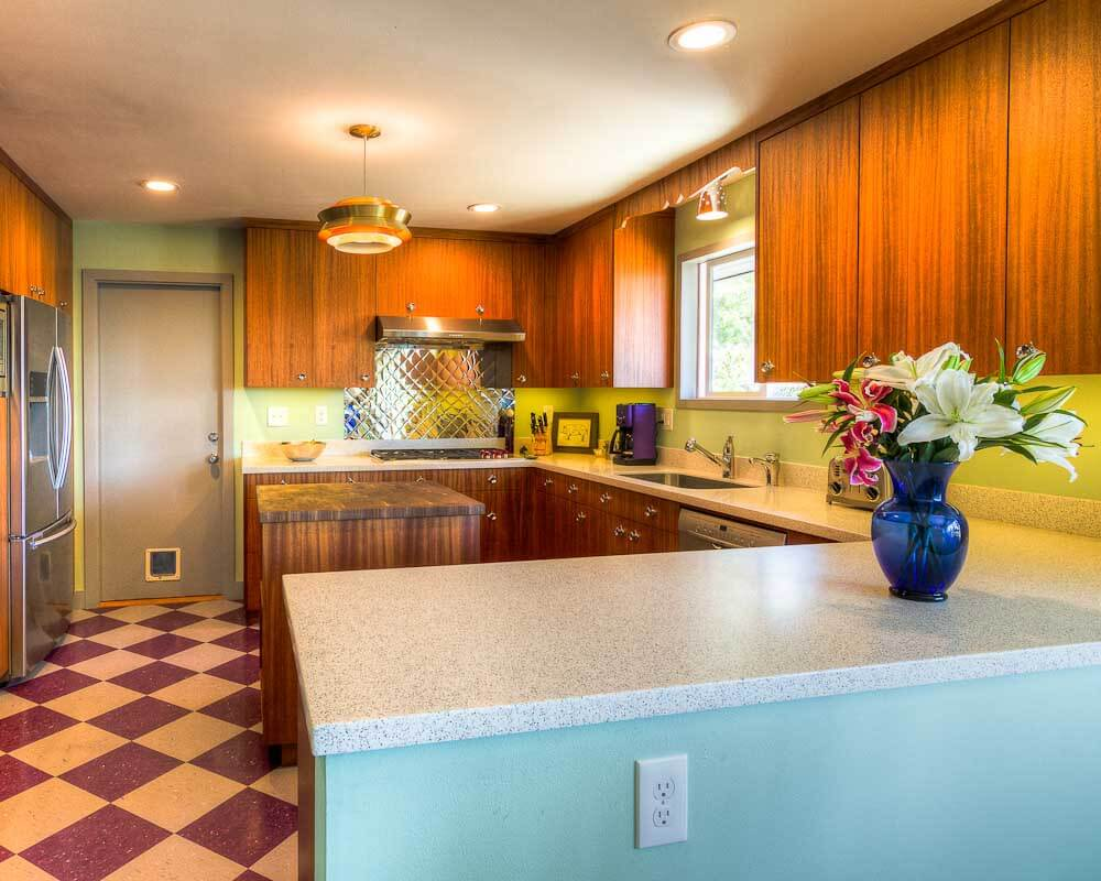 mid century kitchen design