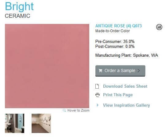 A new, easy-to-buy pink bathroom tile: American Olean Antique Rose ...