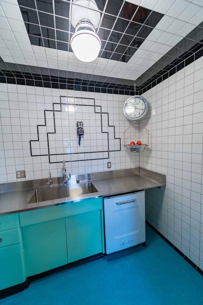 ceramic tile on the ceiling