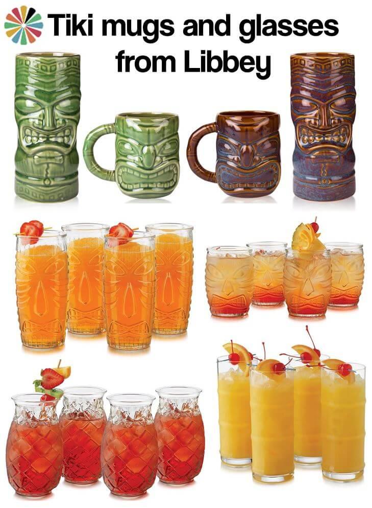 libbey tiki mugs and glassware