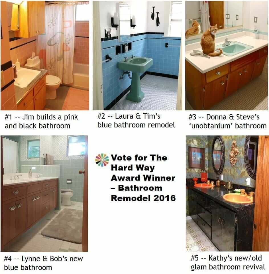 Vote for The Hard Way Award Winner - Bathroom Remodel 2016 - Retro ...