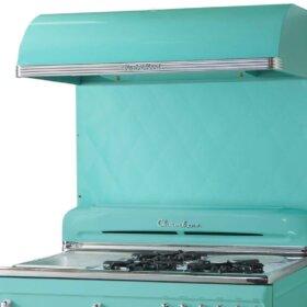 mid century stove range hood
