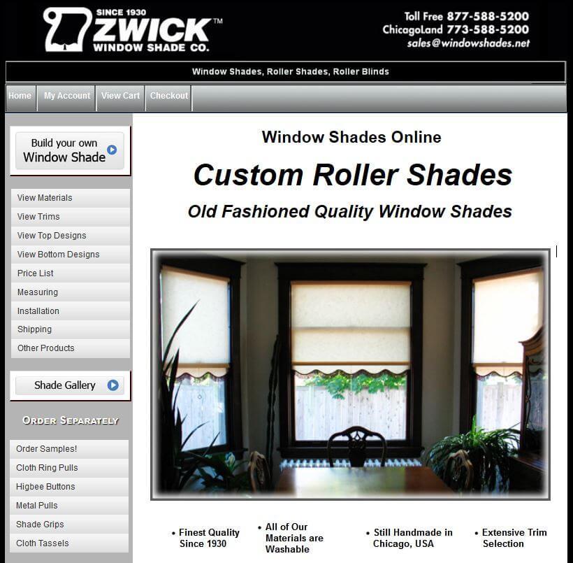 custom window shades old fashioned