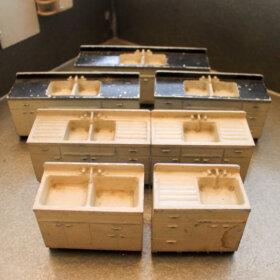 lyon kitchen cabinets salesman sample set
