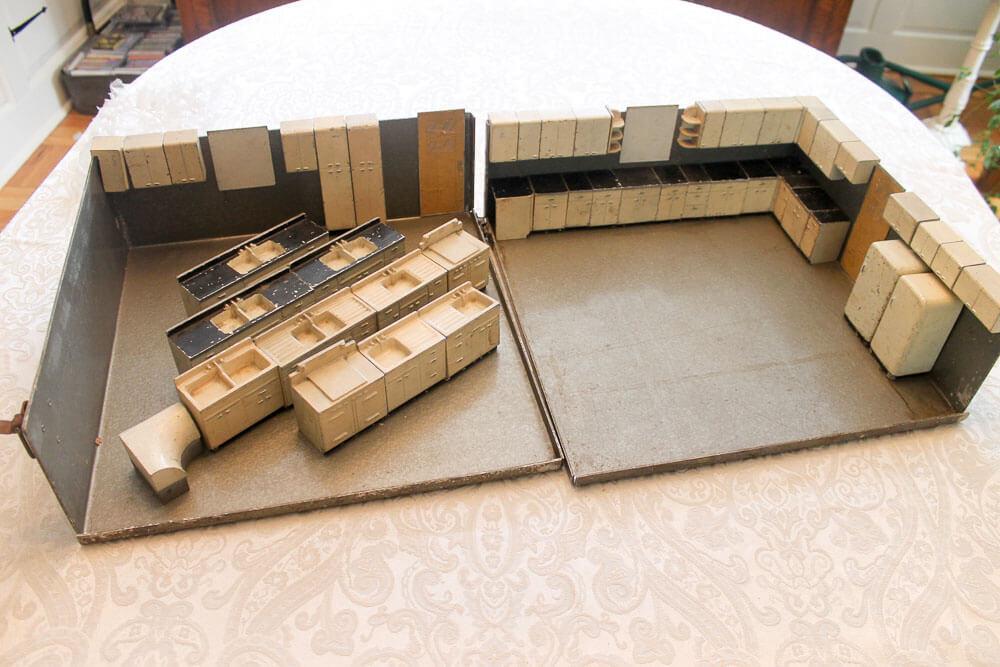 lyon steel kitchen cabinets salesmans sample kit