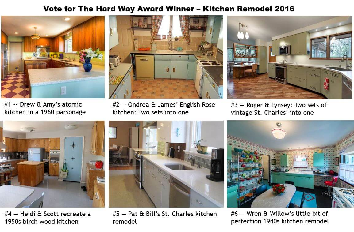 Vote for our the hard way award kitchen remodel winner for Kitchen remodel before after
