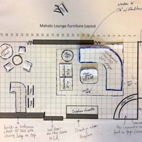 layout options where to put a bar in a living room