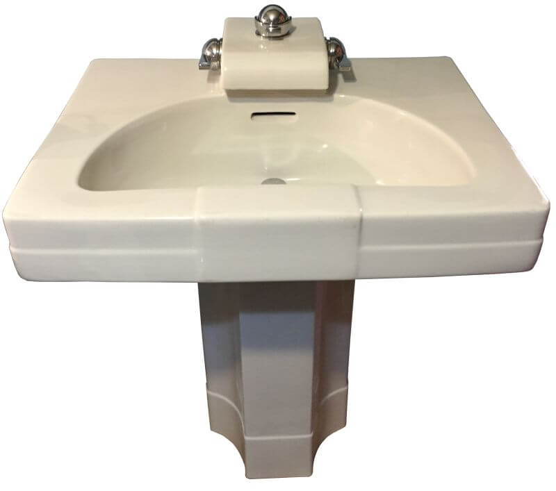 Nice Crane Neuvogue sink by Henry Dreyfuss The holy grail of pedestal sinks Retro Renovation