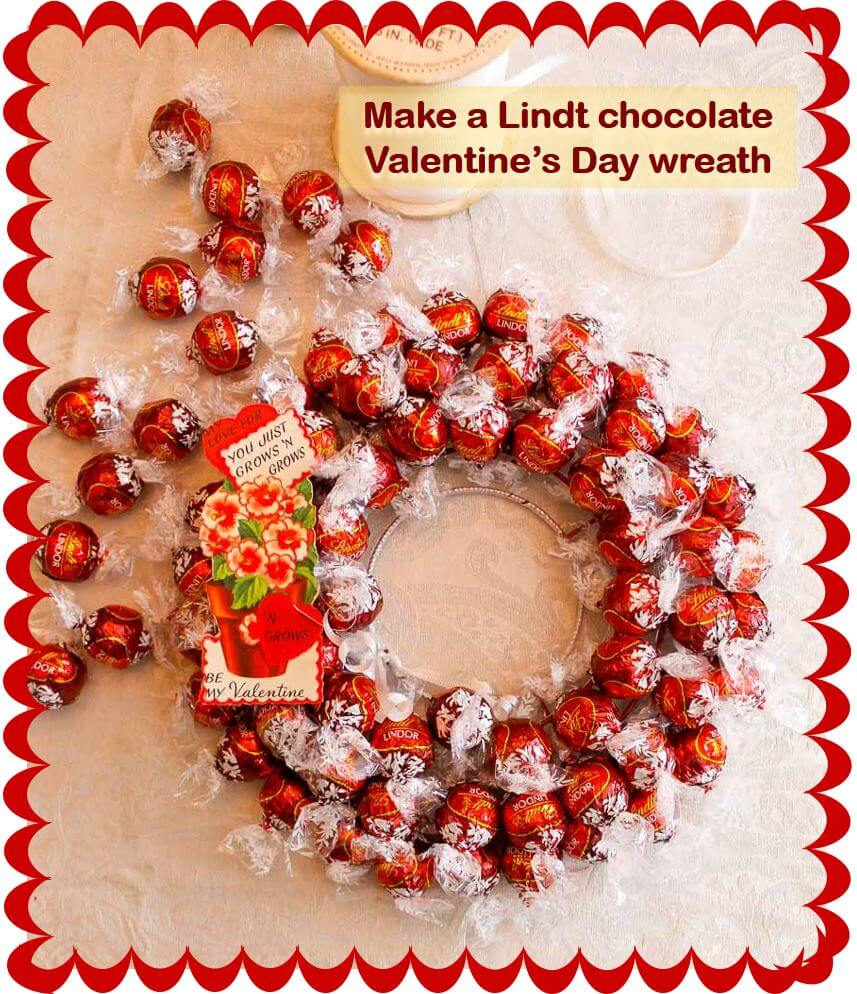 Make A Lindt Chocolate Truffles Wreath For Valentines Day Retro