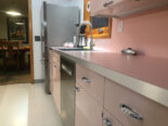 Christine gives her pink 1962 Lyon kitchen some retro TLC — including Retro Renovation® by Wilsonart First Lady Pink laminate