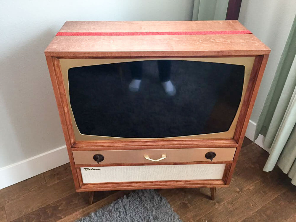 The Basic Case Is Just 3/4 Birch Plywood With Edge Banding Screwed Together  With A Kreg Jig (affiliate Link). I Sized The Top Rectangle For The New TV  That ...