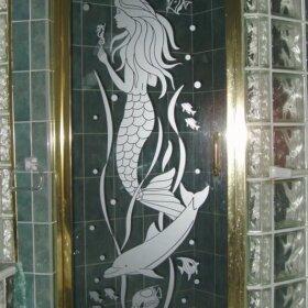 mermaid shower door