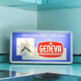 vintage clock for a geneva kitchen cabinet store